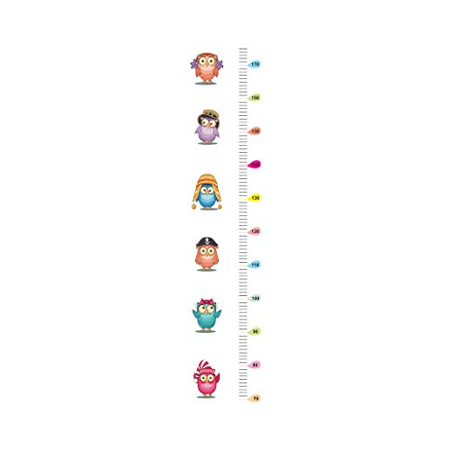 Midress Wall Stickers Bedroom Home Decoration Owl Kids Height Chart Wall Sticker Home Decor Cartoon Animal Height Ruler Removable (Multicolor) by Midress (Image #3)