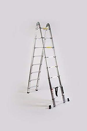 Escalera WORHAN (5.6 M 5.0 M 4.4 M 3.8 M 3.2 M) con anillas de aluminio telescópica de aluminio plegable escalera telescópica ciones multifuncionales escalera de gran variedad de modelos: Amazon.es: Bricolaje y herramientas