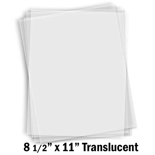 (Hamilco White Translucent Paper Sheets 8 1/2 x 11