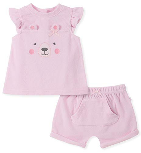 absorba Baby Girls 2 Pieces Shorts Set, Pink 6-9 Months ()