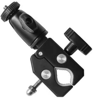 Grifiti Nootle Heavy Duty Bike Bar Clamp Full Metal Construction 1/4 20 Threaded for Cameras and Phone Mounts