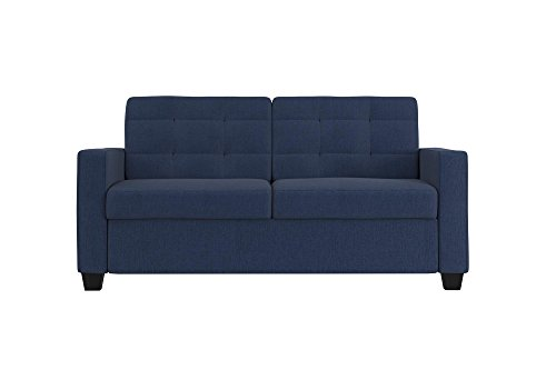 UPC 029986215628, Signature Sleep Devon Sofa Sleeper Bed, Pull Out Couch Design, Includes Premium CertiPUR-US Certified Memory Foam Mattress, Full Size, Blue Linen