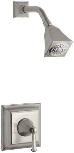 KOHLER K-T462-4S-BN Memoirs Rite-Temp Pressure-Balancing Shower Faucet Trim with Stately Design, Vibrant Brushed Nickel Bn Memoirs Single