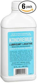 Kondremul Lubricant Laxative, Mineral Oil 16 fl oz, Pack of 6
