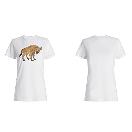 Hyäne Cartoon lustige Animation Damen T-shirt g778f