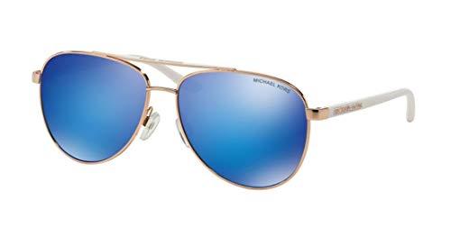 Michael Kors Hvar Sunglasses MK5007 Rose Gold / Blue Mirror 1045/25 59mm