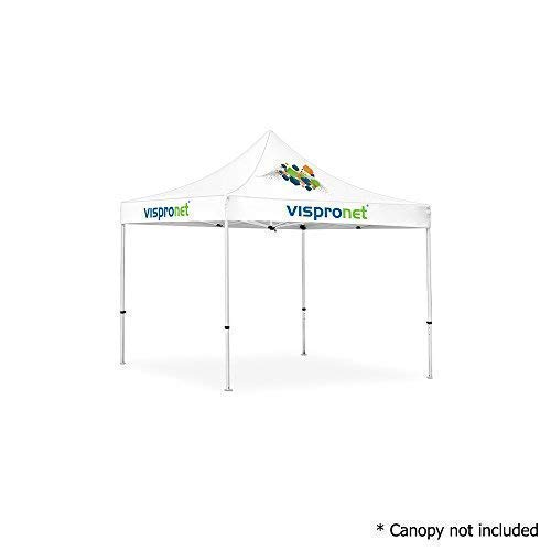 Vispronet - 10ft x 10ft Commercial Steel Tent Frame - Powder-Coated Off-White Steel 10x10 Pop up Canopy Frame (Frame Only, Canopy not Included) ()