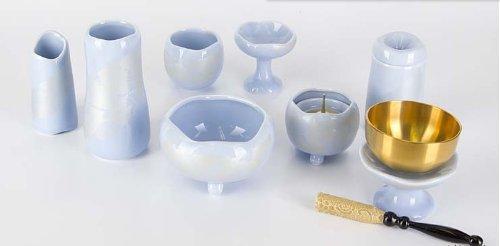 陶器 まるか シンパープル 7点セット 3.0寸+専用リンセット 2.3寸 B00BJWARWO