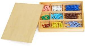 Montessori Caja de Bolas de Colores para el Tablero de Cuentas Set de 20 Matematicas: Amazon.es: Juguetes y juegos