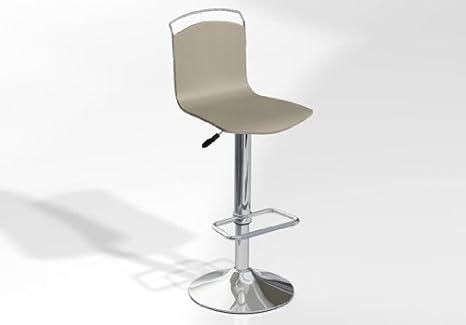 Sgabello da bar regolabile win sedile in legno laccato piedi