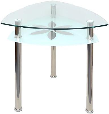 ts-ideen Mesa de Cristal Comedor Triangular – Mesa Ordenador Mesa ...
