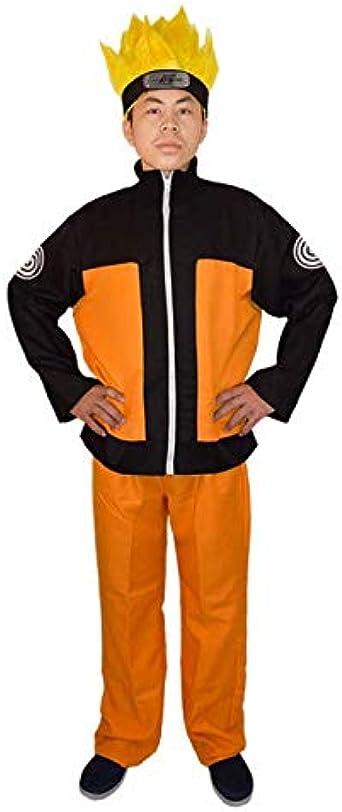 Naruto Shippuden Uzumaki Costume Jacket+Pant Complete Set for Halloween Cosplay