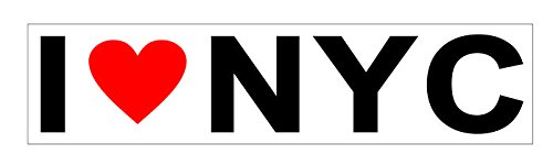 JS Artworks I Love NYC New York City Vinyl Sticker Decal