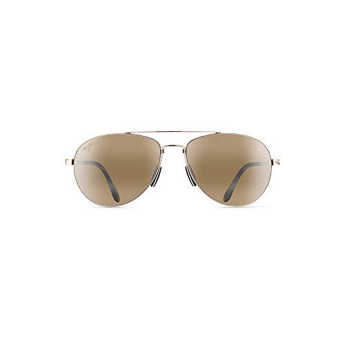 Maui Jim Pilot H210-16   Sunglasses, Gold Aviator, with with Patented PolarizedPlus2 Lens ()