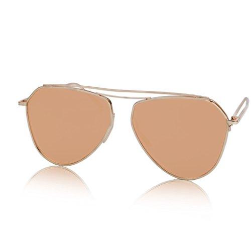 Memoria 2 Reflectante Aviador Lente Gafas Personalizado Metal 4 de de Sunglasses qHaYZ7wnUx