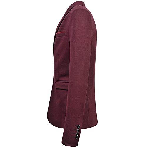 Bouton Veste Vintage 1 Coupe Hommes À Élégant Pour Mariage Costume Mince Winered Party Longues D'été Manches Blazer Chic EZqaSwZ