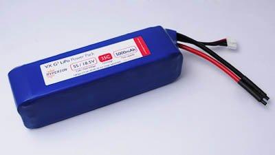 Hyperion G3 Vx 5000 Mah 7S 25.9V 35C/65C Lithium Polymer Split Battery