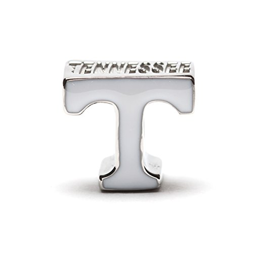 Stone Armory University of Tennessee Bead Charm | Tennessee Stainless Steel White T Charm | Tennessee Gift | Officially Licensed by University of Tennessee | Fits Most Popular Charm Bracelets