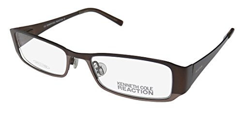 Kenneth Cole New York KC0717 Eyeglass Frames - Matte Light Brown Frame, 49 mm Lens Diameter
