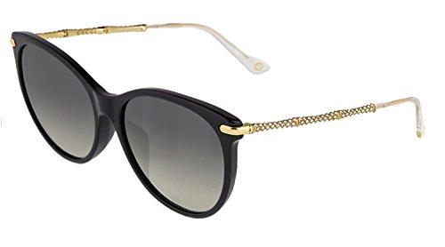 Gucci - GG 3777/N/F/S ASIAN FIT, Cat Eye, acetate, women, BLACK GOLD/GREY SHADED POLARIZED(ANW/WJ), 58/17/145