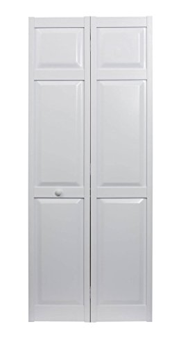 "LTL Home Products SEAPP24 Seabrooke PVC Raised Panel Interior Bifold Door, 78.625"" x 23.5"", White"