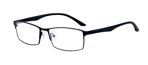(ALWAYSUV Reading Glasses Black Quality Readers TR90 Anti Blue Light Computer Reading Glasses)