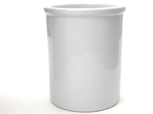 Kitchen Supply 8048 White Porcelain Utensil Holder 6.75 Inch by 5.5 Inch (Porcelain Utensil White Holder)