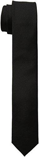 (Calvin Klein Men's Oxford Solid Tie, Black, Skinny)