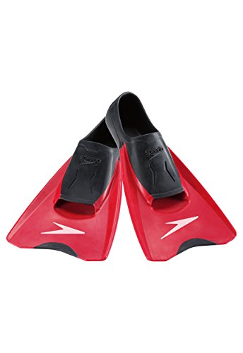 Speedo Switchblade Fins, Black/Red, Medium