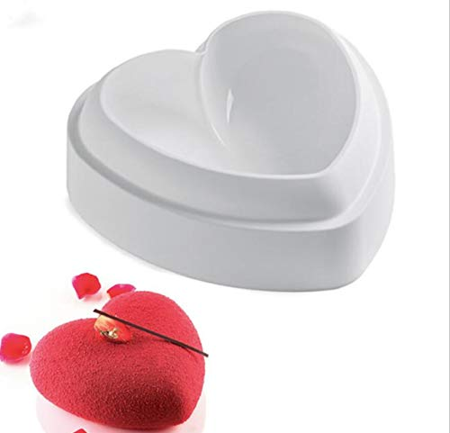 (Baking Silicone 6-Inch Heart Cake Pan Baking Mold, BPA Free, Non-Stick European-Grade Silicone, 2.1-Inches Deep)