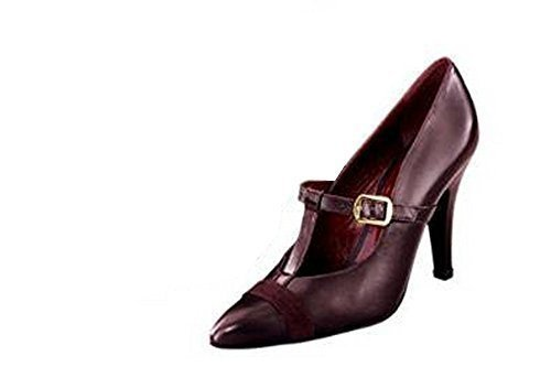business Womens Court Shoes Burgundy OFE7KRNJ3L