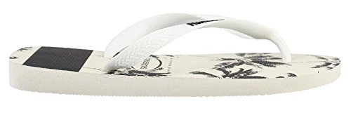 Superiores blanco Rayas Con Logotipo Logo Sandalia Stripes Sandal Havaianastop Negro Hombres PxYqpv06