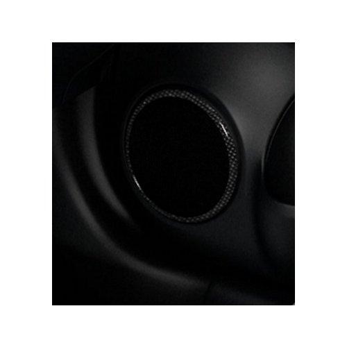 2016-2017 Nissan Versa Carbon Fiber Look Color Studio Speaker Rings