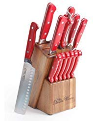 The Pioneer Woman Cowboy Rustic Cutlery Set, 14-Piece, Red