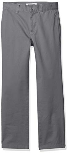 Amazon Essentials Boys Straight Leg Flat Front Uniform Chino Pant