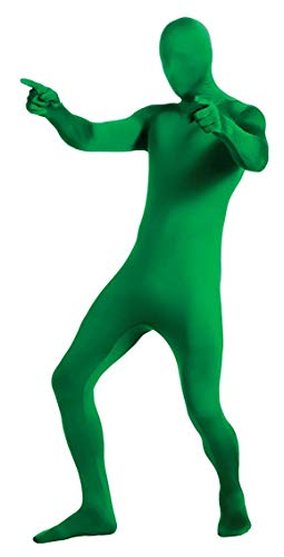 Adult 2nd Skin Green Body Suit - Large