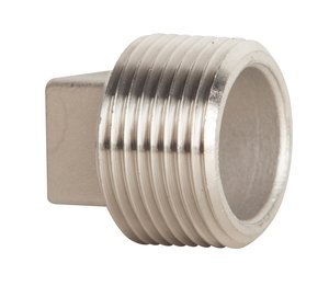4'' M-NPT 316 Stainless Steel Square Cored Pipe Plug by ProFitter