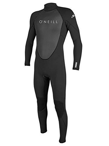 O'Neill Men's Reactor II 3/2mm Back Zip Full Wetsuit, Black, Medium (Medium Tall Wetsuits)