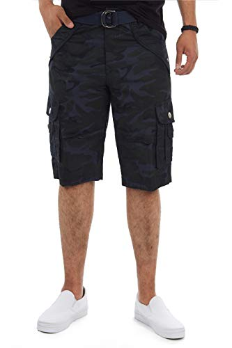 X RAY Mens Tactical Bermuda Cargo Shorts Camo and Solid Colors 12.5