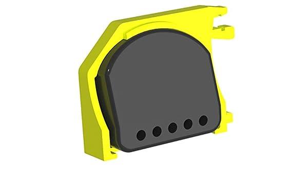 Montaje vertical en el carril DIN naranja FibaroBox1 para la inclusi/ón de 1 pieza fibaro rel/é Amarillo Ahorra valioso espacio en el distribuidor.