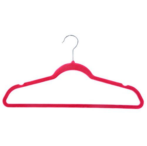 60 PCS Non Slip Velvet Clothes Suit Pants 4 colors the Shape Suit/Shirt/Pants Hangers Multicolor by Phumon567 (Image #7)