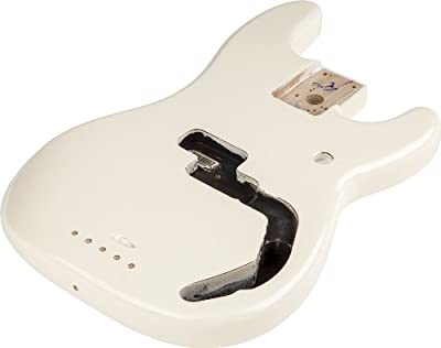 Fender Precision Bass Body with Alder, Arctic White by Fender Musical Instruments Corp.