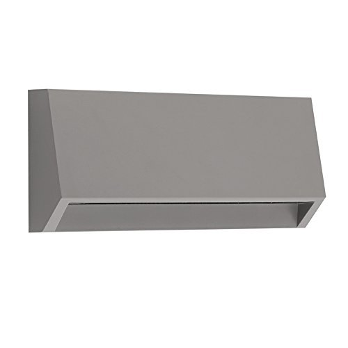Electric Stair Step and Wall Led Light - Outdoor and Indoor Decorative Lighting - Rectangular, Down Direct Light, Waterproof IP65, 3W 120V 4000K 160LM, Grey by LightStan