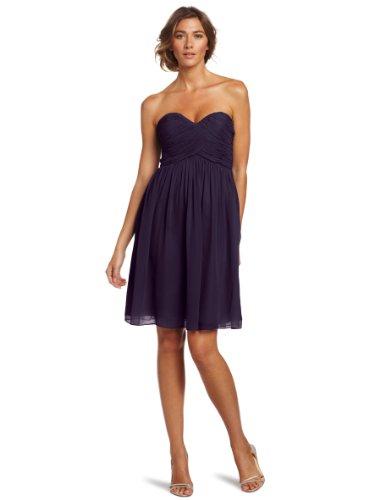 Donna Morgan Women's Strapless Sweetheart Chiffon Dress, ...