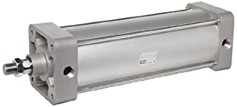 SMC NCA1 Series Aluminum Air Cylinder, Tie-Rod, Double Acting, Basic Style Mounting, Not Switch Ready, Cushioned