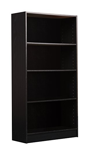 One Bookcase Shelf (Mylex 47.5 Inch Bookcase, One Fixed and Three Adjustable Shelves, 47.5 x 24.75 x 9.5 Inches, Black Oak Finish, Assembly Required (42344))