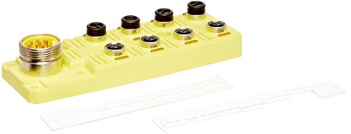 Brad BTY801P-FBB Micro-Change Top Mount Single Wired Port Distribution Box with Brad Mini-Change HR Connector, 10-30V DC Max Voltage, LED Indicator, PNP Sensor, 8 Port by Brad Automation