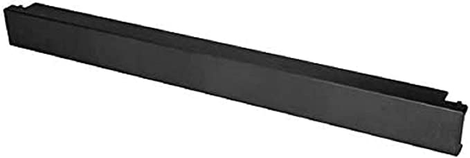 Pier Telecom Rack Mount 2U Blanking Panel Filler Without Holes Black for 19 Computer Servers,A//V Equipment Cabinets