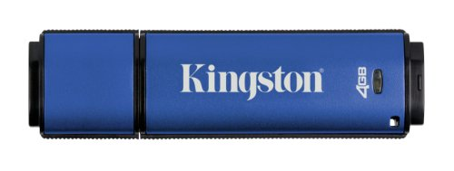 Kingston DataTraveler Vault Privacy Edition 4 GB USB 2.0 Flash Drive DTVP/4GB (Blue) ()