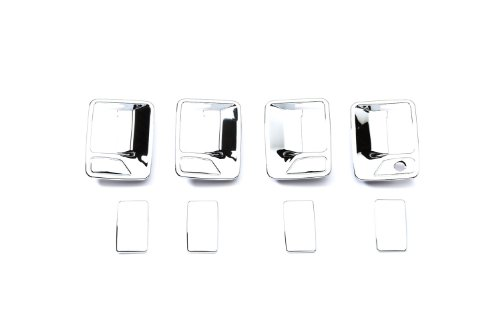 (Putco 401209 Chrome Trim Door Handle Covers without Passenger Keyhole for Super Duty (4 Door))